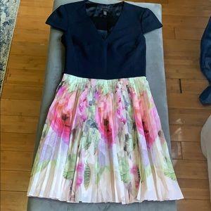 Ted Baker pleated skirt dress